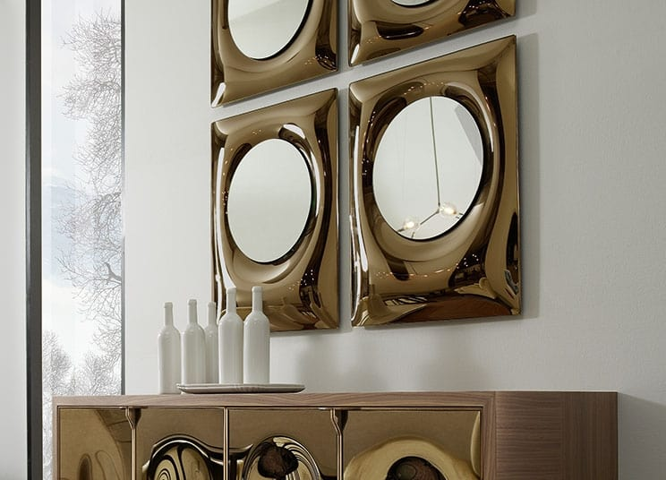 Bolla mirror, Curved glass mirror