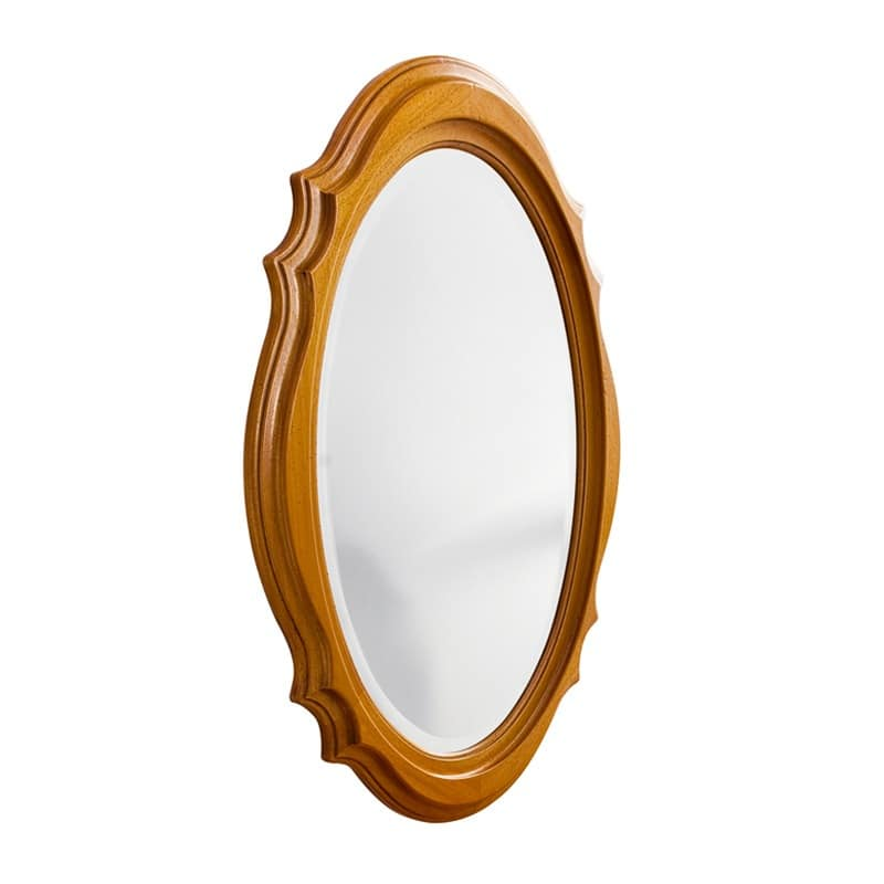 CARINA Art. 1508, Mirror with decorated frame, walnut and cherry finish, atrium