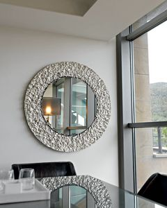 Cliff 329, Round mirror, with crystal frame