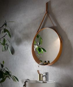 Corium, Round leather mirror