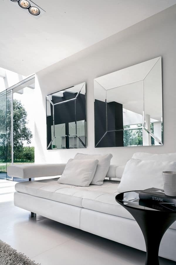 COSTANTIA, Customizable mirror, for entrances and living rooms