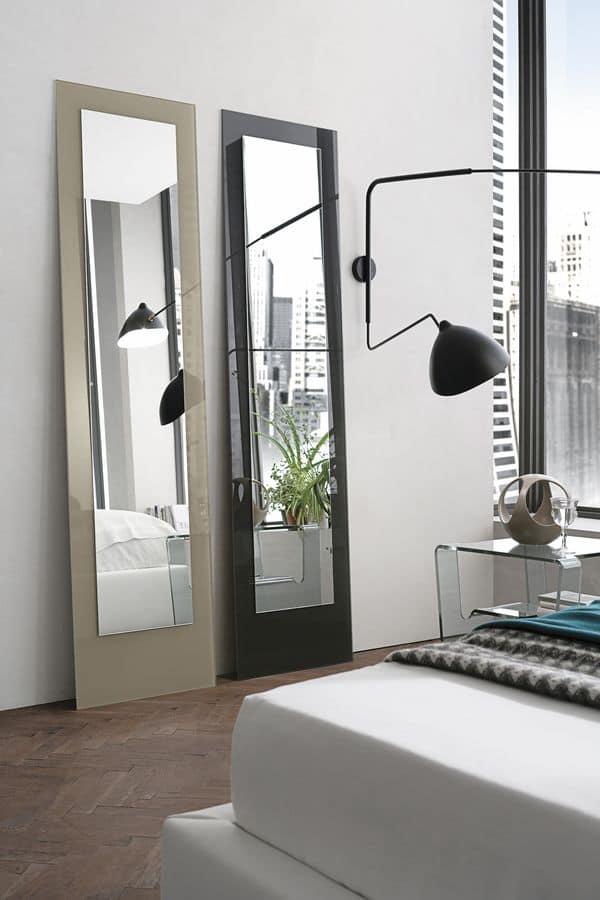 DORIAN SSC03, Rectangular mirror in tempered glass ideal