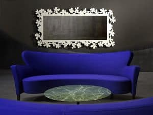Flower mirror, Mirror in laser cut metal, various finishes