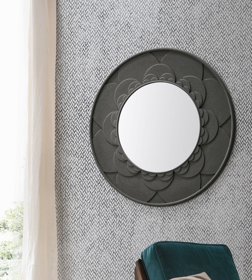 FLOWER SS402, Mirror with floral pattern frame