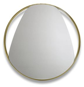 Frame G, Round mirror with metal frame