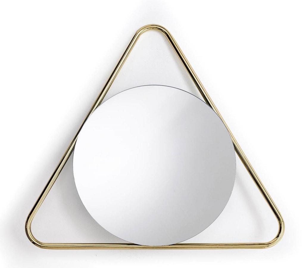Frame T, Round mirror with triangular frame