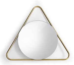 Frame T, Round mirror with triangular frame