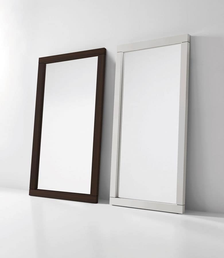 Fusion, Mirror with wooden frame, neon light optional