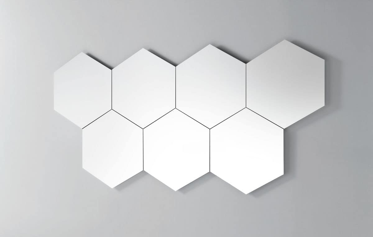 Geometrika hexagonal, Modular hexagonal mirrors, unframed