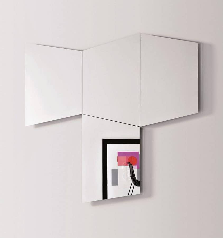 Geometrika trapezoidal, Wall trapezoidal mirrors, with integrated LED light