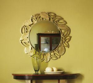 Grand Etoile Art. GE010, Round mirror, with leaf frame