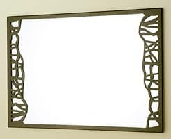 Green Mirror, Decorative mirror with thin metal frame