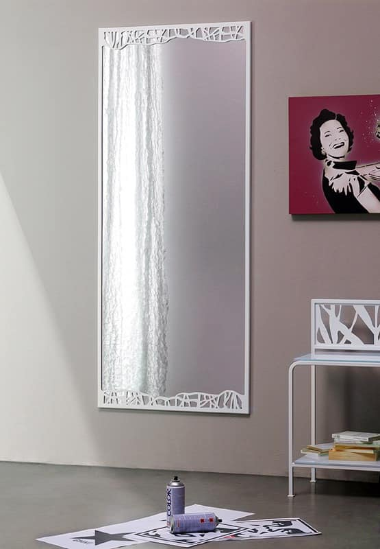 Green high mirror, Classic mirror with thin metal frame