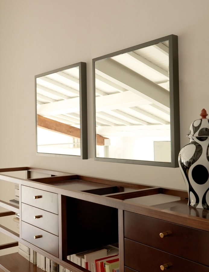 Jan 251, Mirror with lacquered wood frame