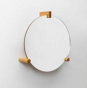 June, Mirror with coat hook and shelf