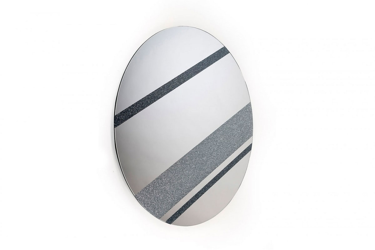 Jupiter mirror, Round mirror, inspired by the planets