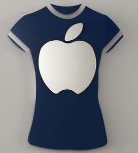 k 194 t-shirt, Modern mirror with t-shirt shaped frame