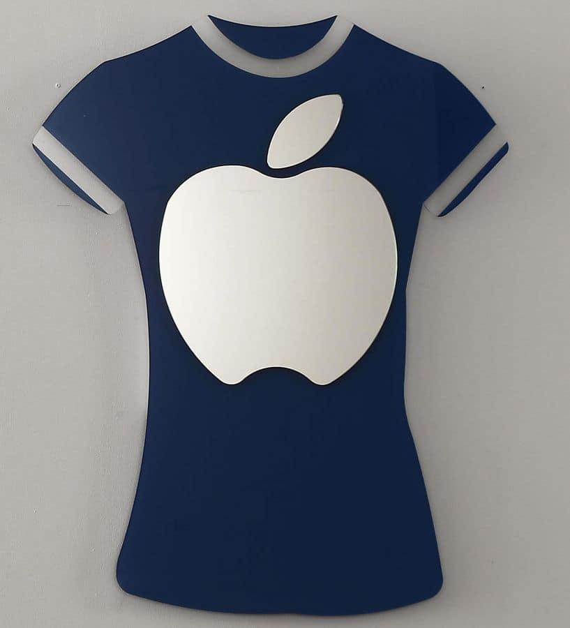 k 194 t-shirt, Modern mirror with t-shirt shaped frame