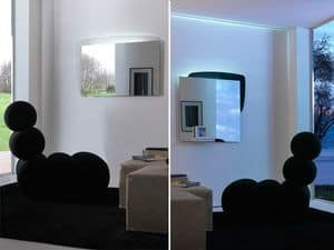 k198 visual bw, Mirror with back panel with LED lighting