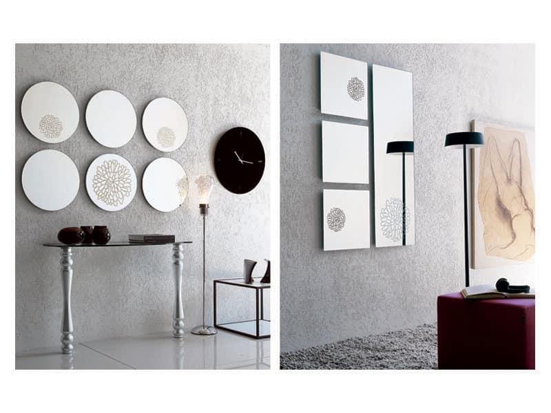 k201 frill, Frameless mirror, wall mounting