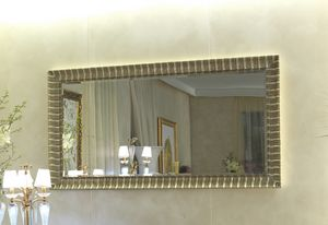 Art. LA 581 silver-plated with gold patina, Gold and silver finish mirror, outlet price