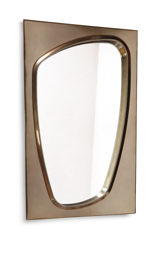 LAPETO mirror GEA Collection, Mirror with bronzed frame