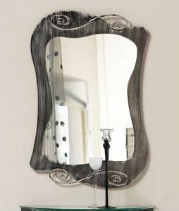Mirò mirror, Mirror with curved iron frame