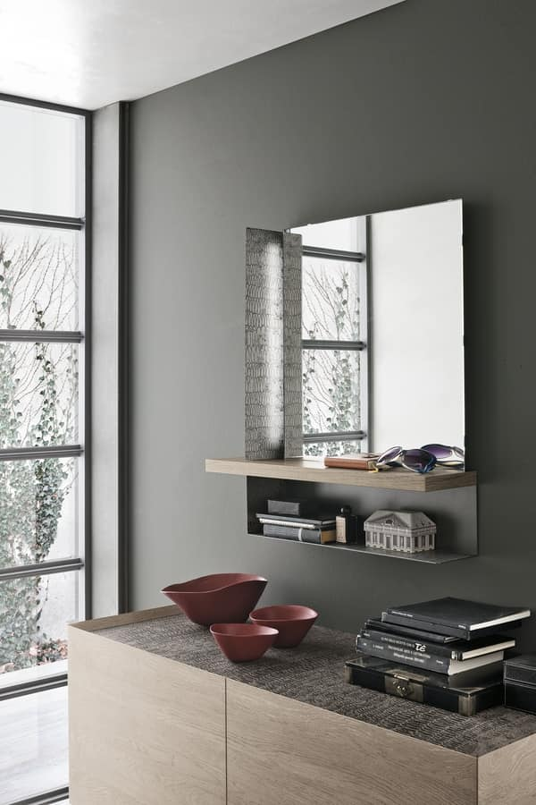 MODUS SS501, Mirror with laminate and metal structure