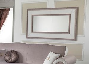 MORFEUS mirror, Rectangular mirror with covered frame