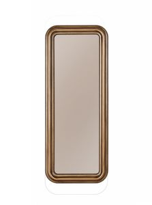 Novecento mirror, Mirror with rounded frame