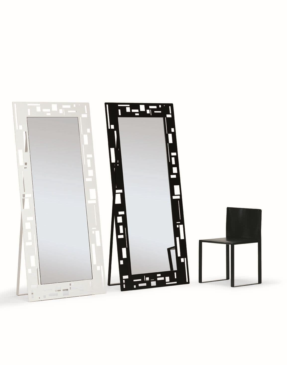 Otto, Rectangular mirrors, with modern design, ideal for shops and home