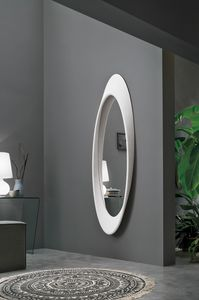 PLEASURE SS400, Oval mirror with polyurethane frame