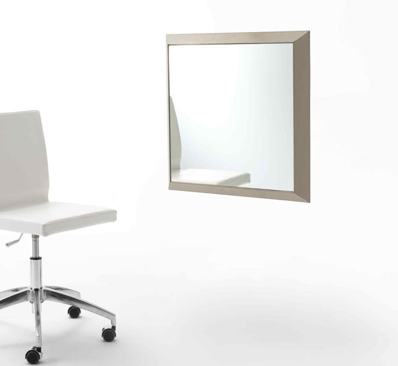 Rex Q, Mirror with frame covered in leather, various colors