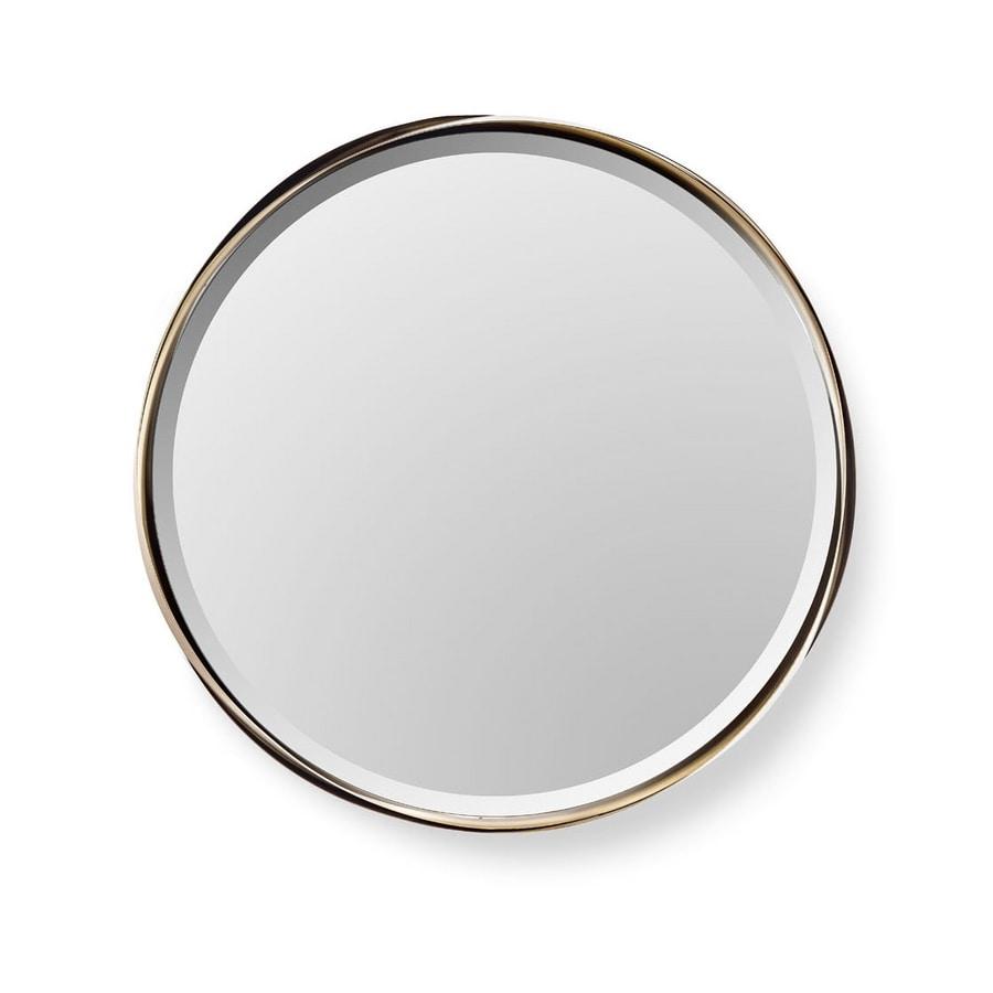 Rodin mirror, Round mirror with steel frame