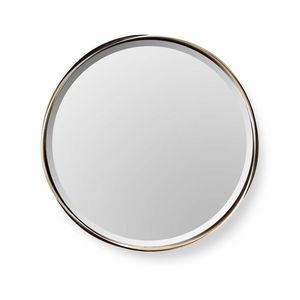 Rodin mirror, Round mirror with steel frame