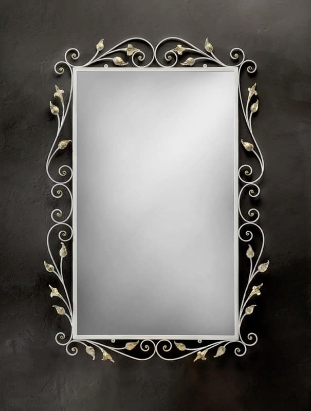 SP/310, Rectangular mirror with frame in wrought iron