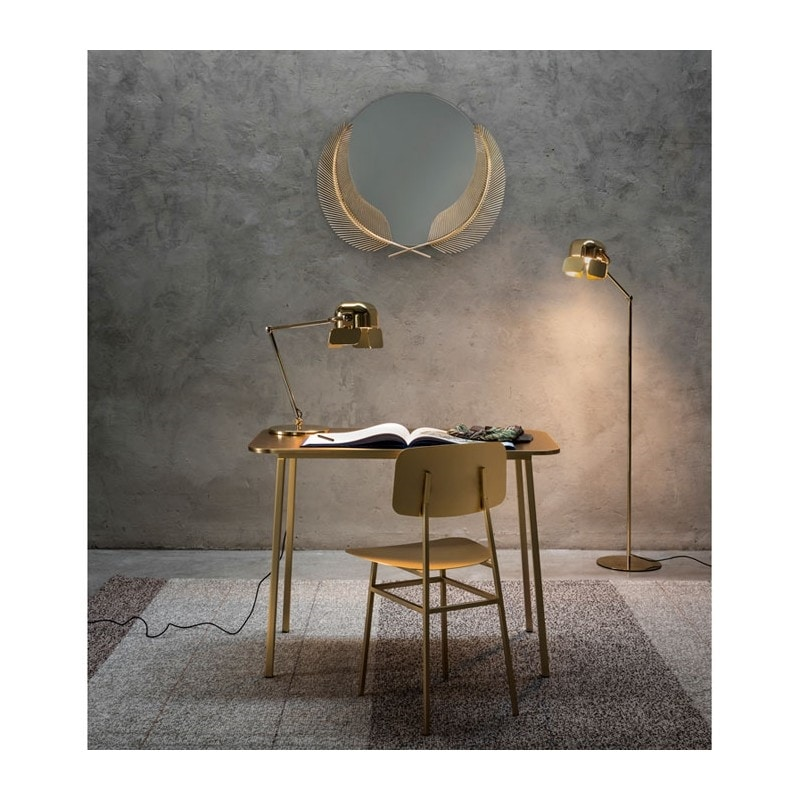 Sunset Mirror, Mirror with brass palms