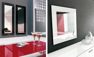 TOSHIMA, Wall mirror, different finishes for screen printing