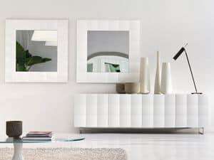 VENICE mirror, Square mirror with matte frame