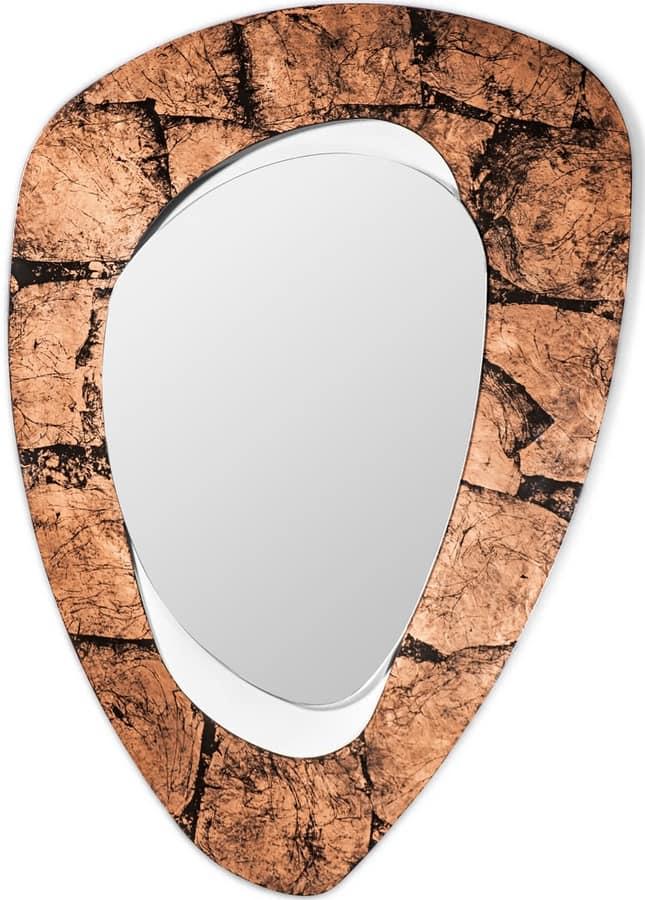 Vintage mirror, Contemporary mirror with iron frame