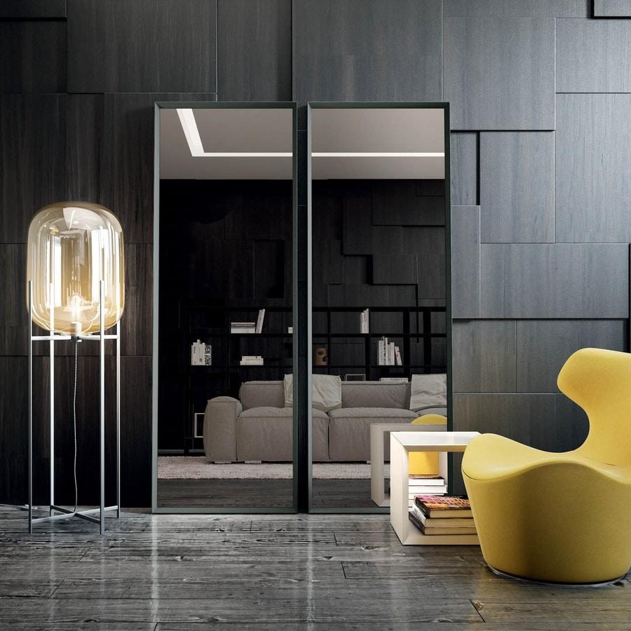 Vittorio 111, Mirror with aluminum profile