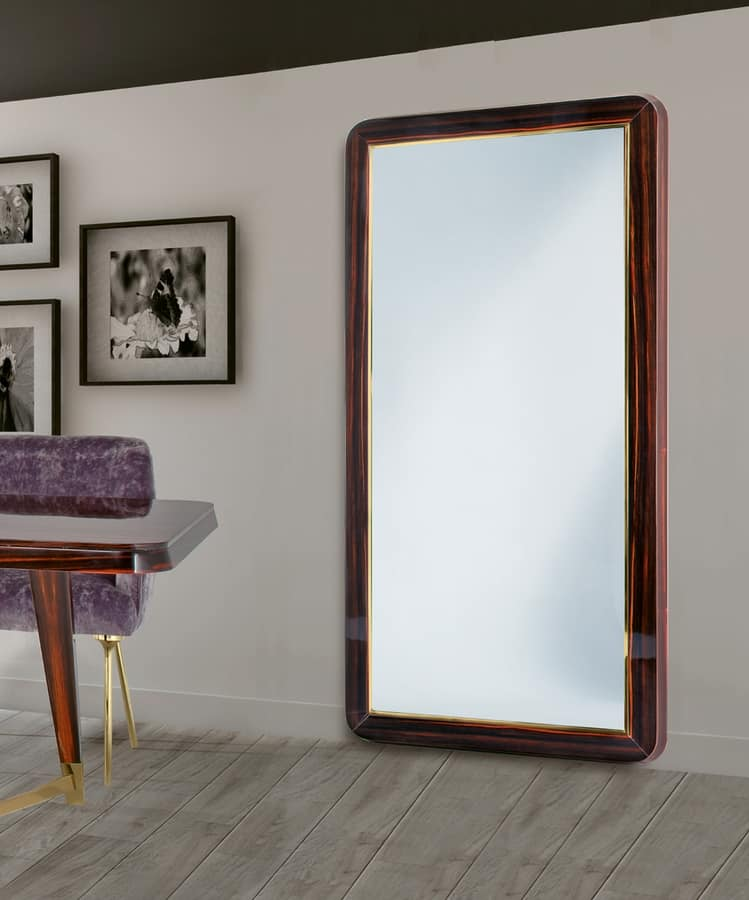 Wooden frame large mirror