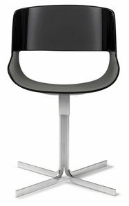 Amaranta chair with fix X base 25.0030, Chair with modern lines