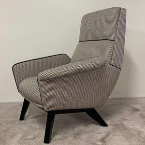 Anni '60, Armchair with fabric upholstery