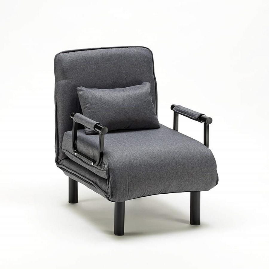 Armchair bed folding in fabric DEBORAH - PU672TEXGS, Convertible armchair in bed