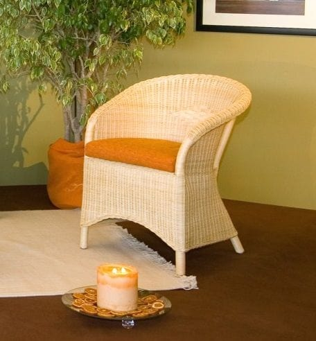 Armchair Berna, Ethnic armchair with wicker structure