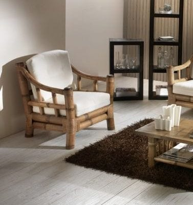 Armchair Kona, Ethnic bamboo armchair