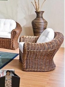 Armchair Peony, Ethnic armchair in wicker
