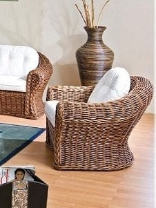 Armchair Peony, Ethnic armchair in wicker