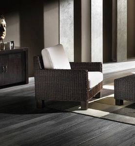 Armchair Verano, Ethnic armchair with woven structure